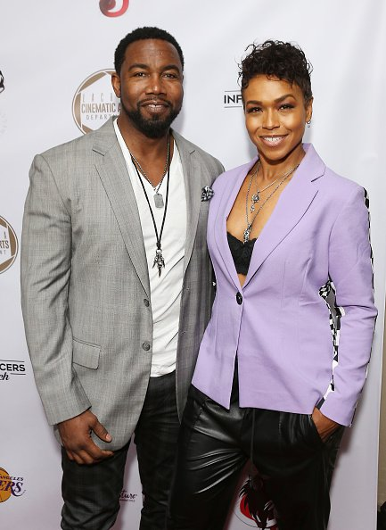 Michael Jai White and Gillian Waters at SLS Hotel at Beverly Hills on February 8, 2020 in Los Angeles, California. | Photo: Getty Images