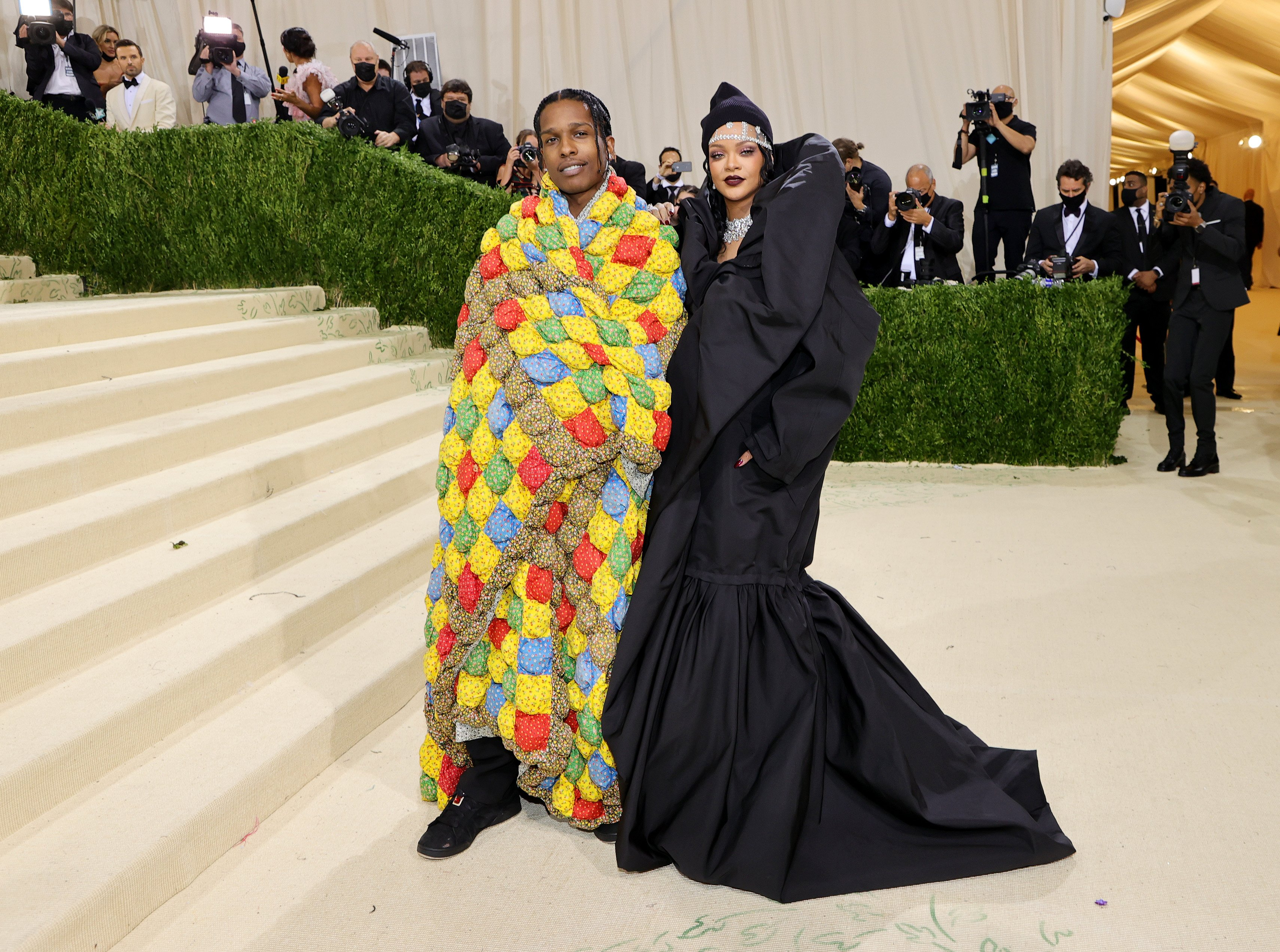 Rihanna and A$AP Rocky at the 2021 Met Gala in New York   Photo: Getty Images