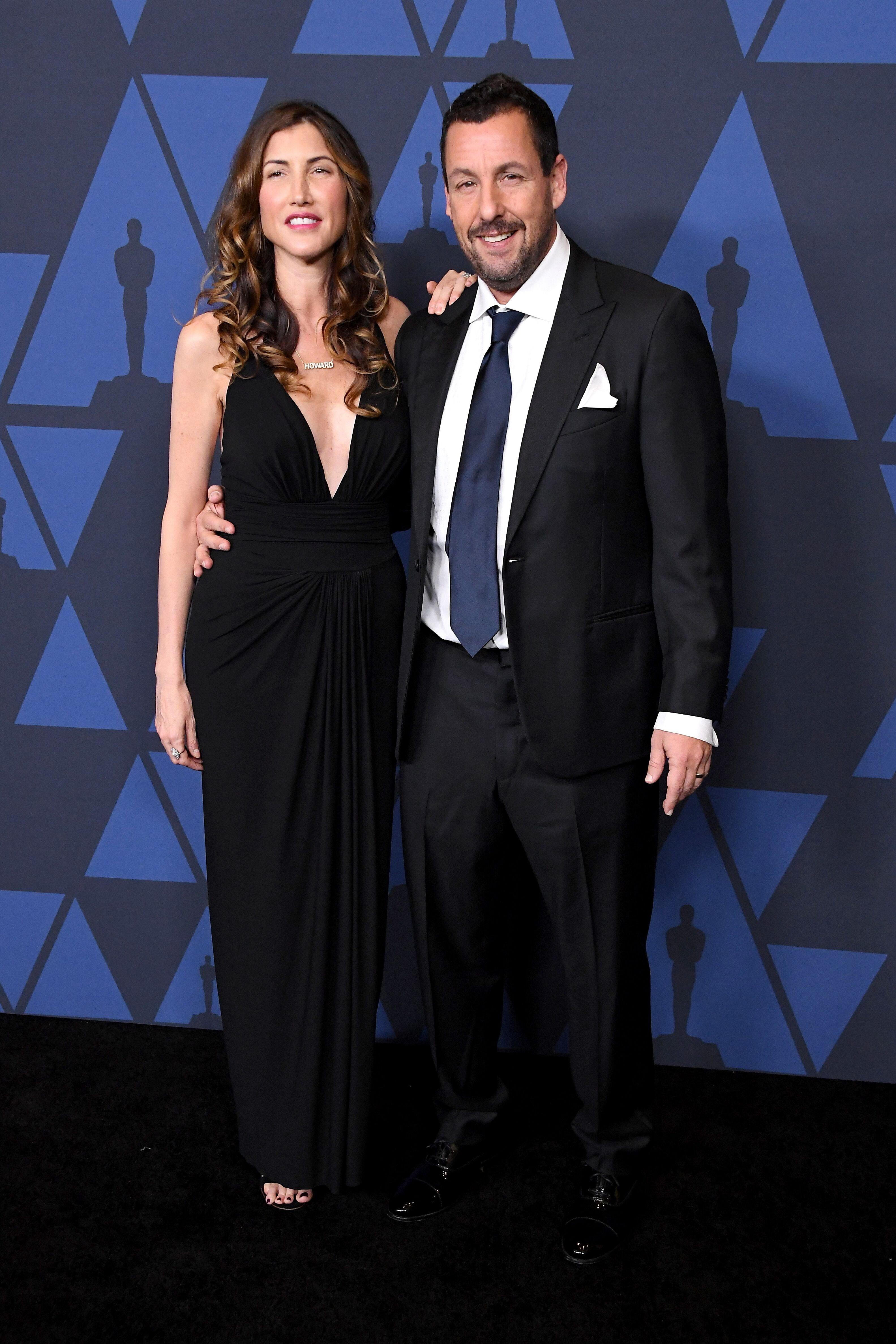 Jackie Sandler and Adam Sandler attend the Academy Of Motion Picture Arts And Sciences' 11th Annual Governors Awards. | Source: Getty Images