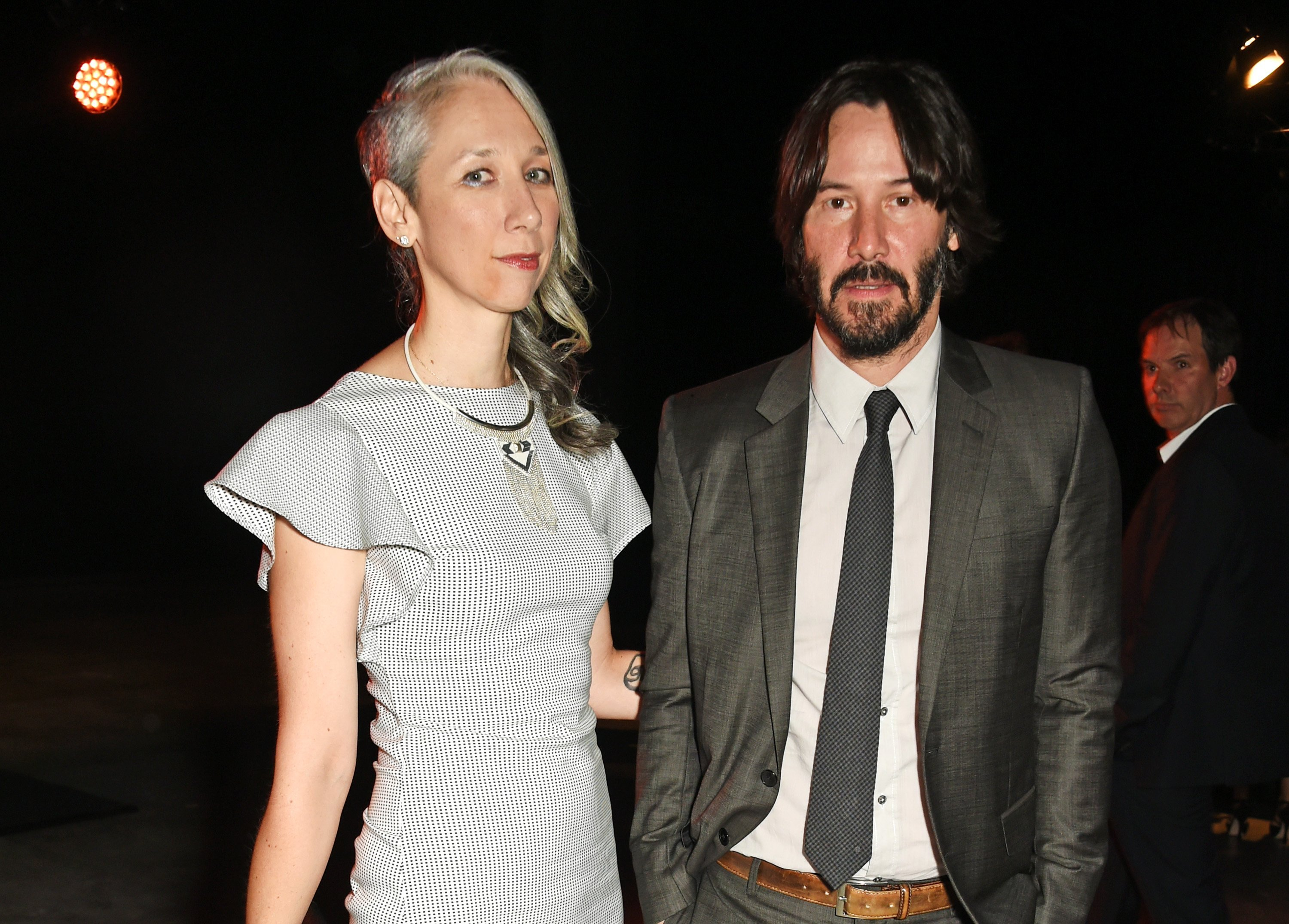 Keanu Reeves and rumoured girlfriend, artist Alexandra Grant at the UNAIDS Gala during Art Basel 2016 in Basel, Switzerland. | Photo: Getty Images