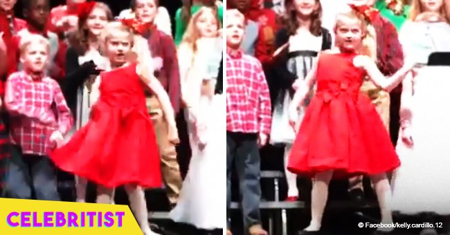 Little girl still brings joy with sassy performance of 'Blitzen's Boogie' at Christmas concert