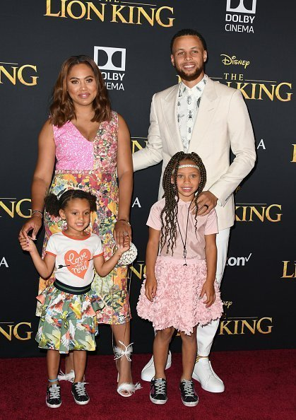 "Stephen Curry, Ayesha Curry and kids attend the Premiere Of Disney's ""The Lion King"" on July 09, 2019 
