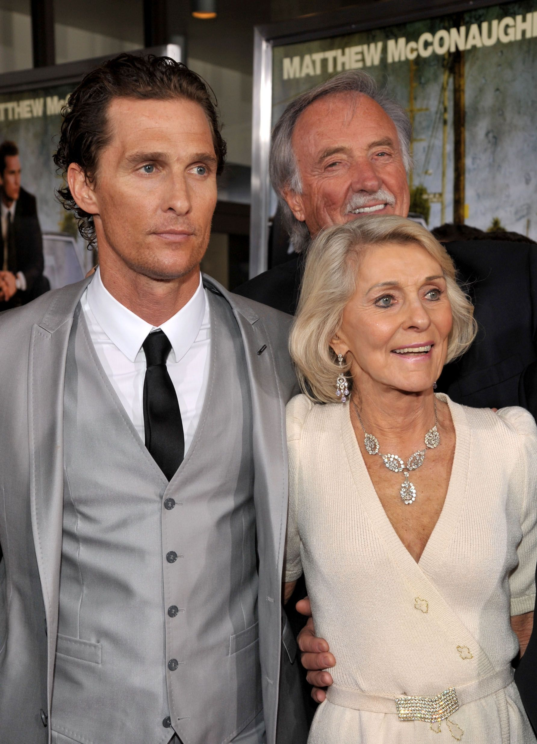 """Matthew McConaughey, and parents Mary Kathlene McCabe, and James Donald McConaughey at """"The Lincoln Lawyer"""" Los Angeles screening on March 10, 2011, in Hollywood, California 