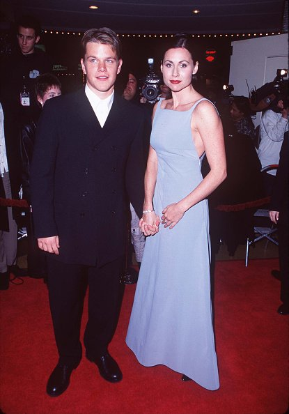 Matt Damon and Minnie Driver at Mann Bruin Theatre in Westwood, California, United States in 1997. | Photo: Getty Images