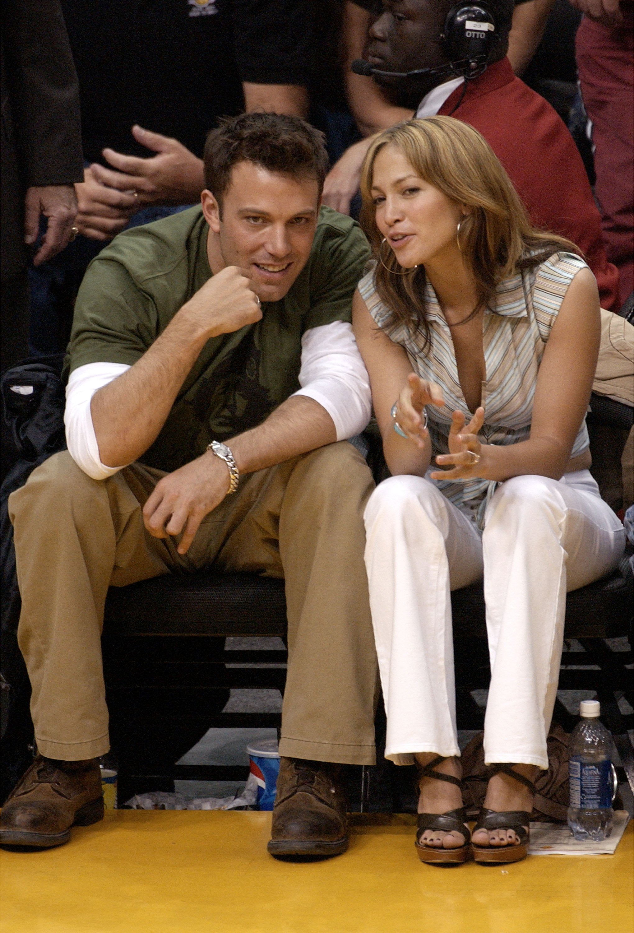 An undated image of Ben Affleck and Jennifer Lopez smiling while conversing | Photo: Getty Images