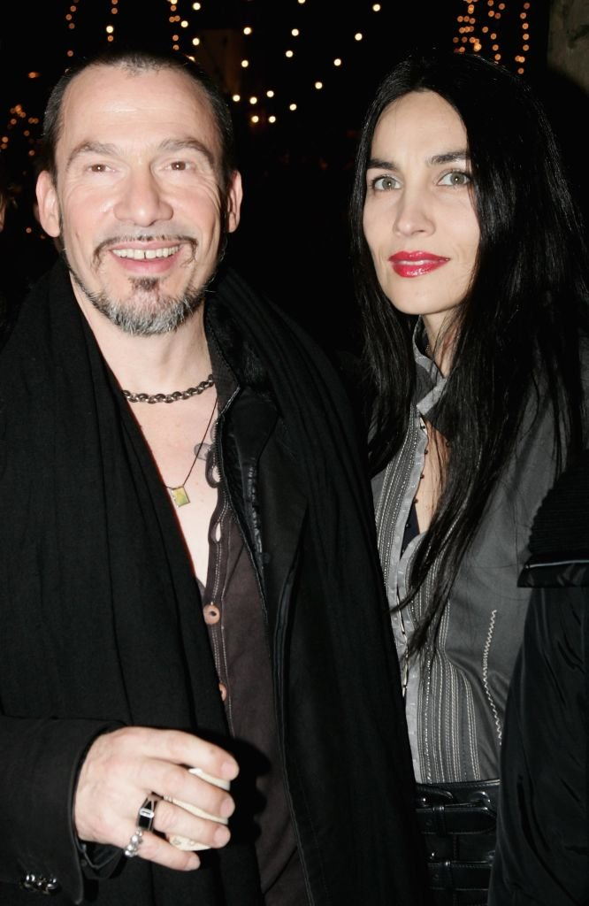 Florent Pagny et sa femme Azucena Caamaño.. | Photo : Getty Images