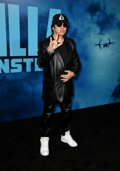 "Gene Simmons at the premiere of ""Godzilla King Of The Monsters"" at TCL Chinese Theatre on May 18, 2019 in Hollywood, California. 