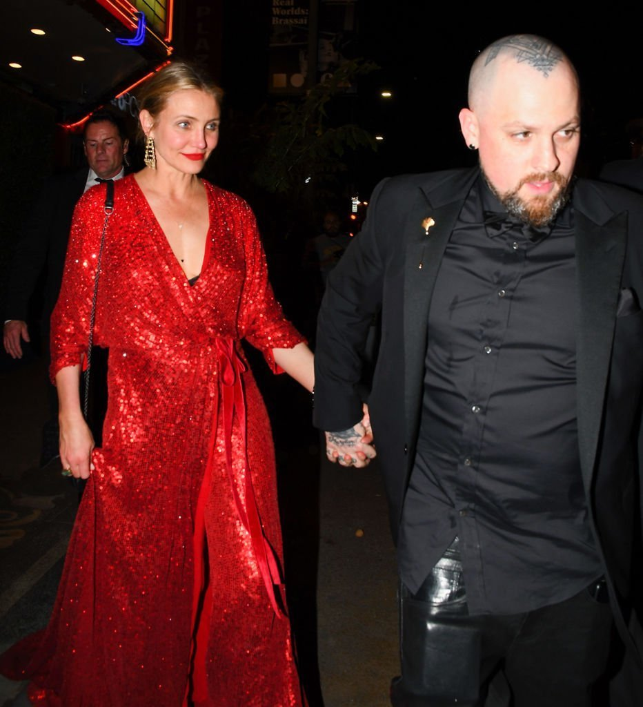 Cameron Diaz and Benji Madden are seen on April 14, 2018 in Los Angeles, California. | Photo: Getty Images