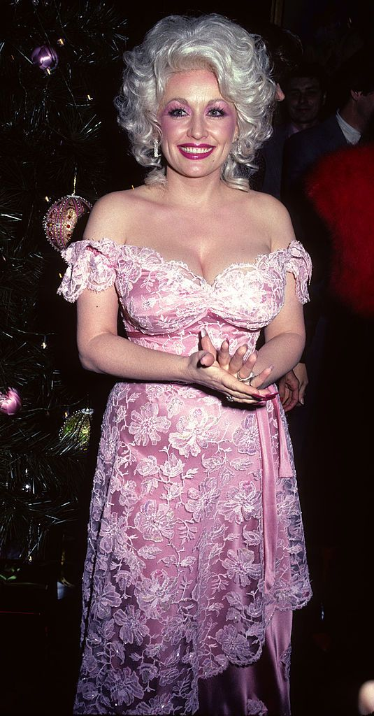 "Dolly Parton at the premiere of ""Nine to Five"" in 1980 