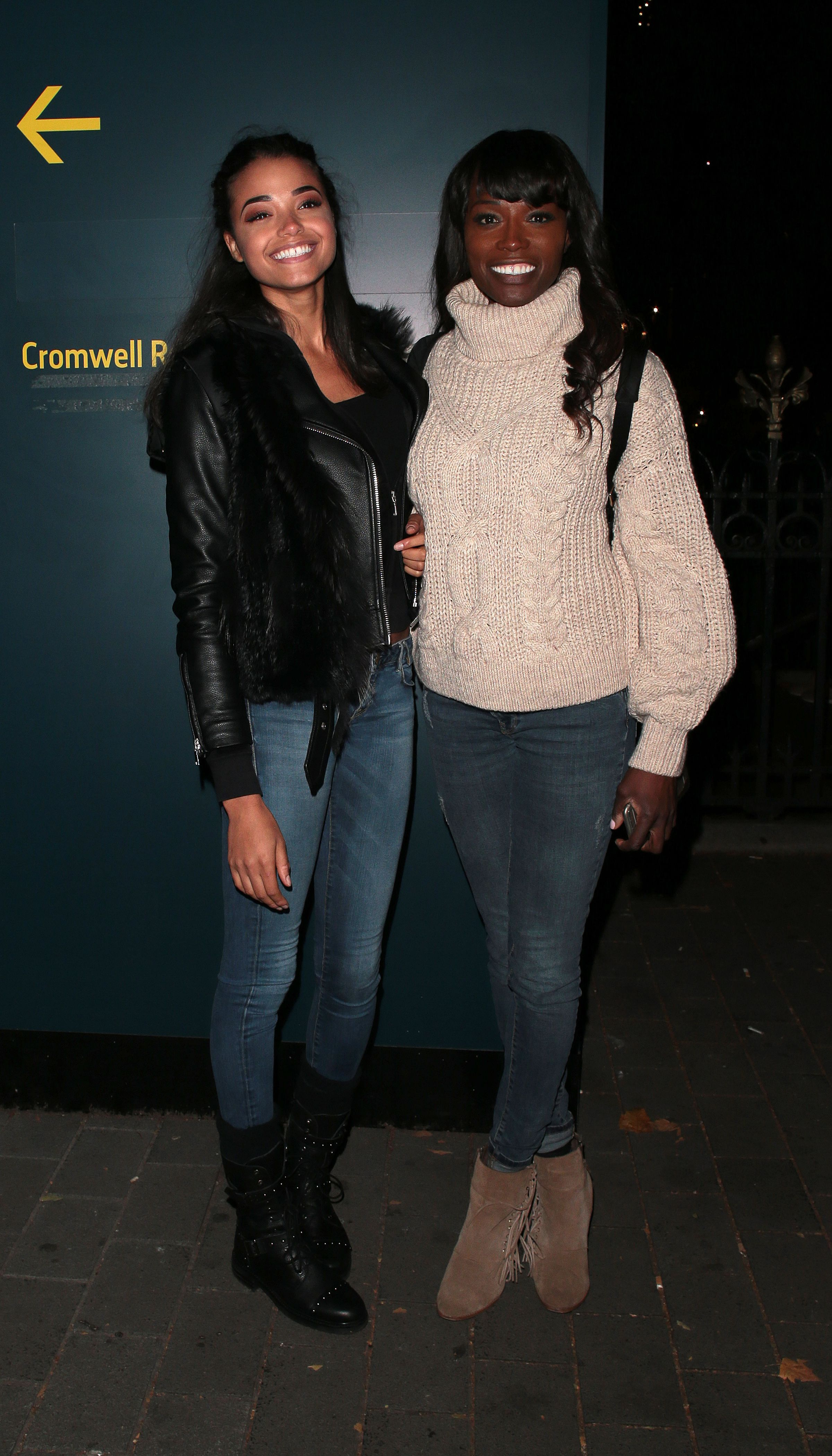 Lorraine Pascale and daughter Ella Balinska at the Natural History Museum Ice Rink in 2017 in London, England | Source: Getty Images