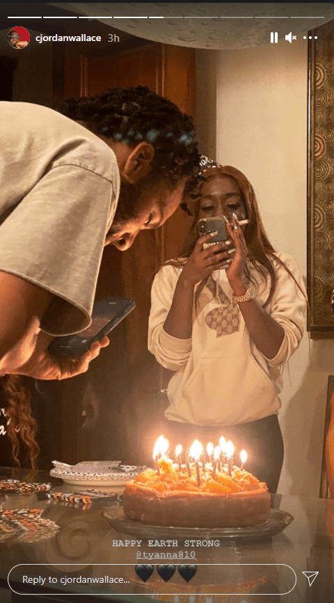 CJ Wallace and his sister T'yanna during her birthday celebration   Photo: Instagram/cjordanwallace
