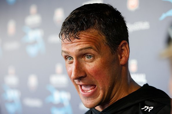 Ryan Lochte speaks to the media after winning the Men's 200m Individual Medley | Photo: Getty Images
