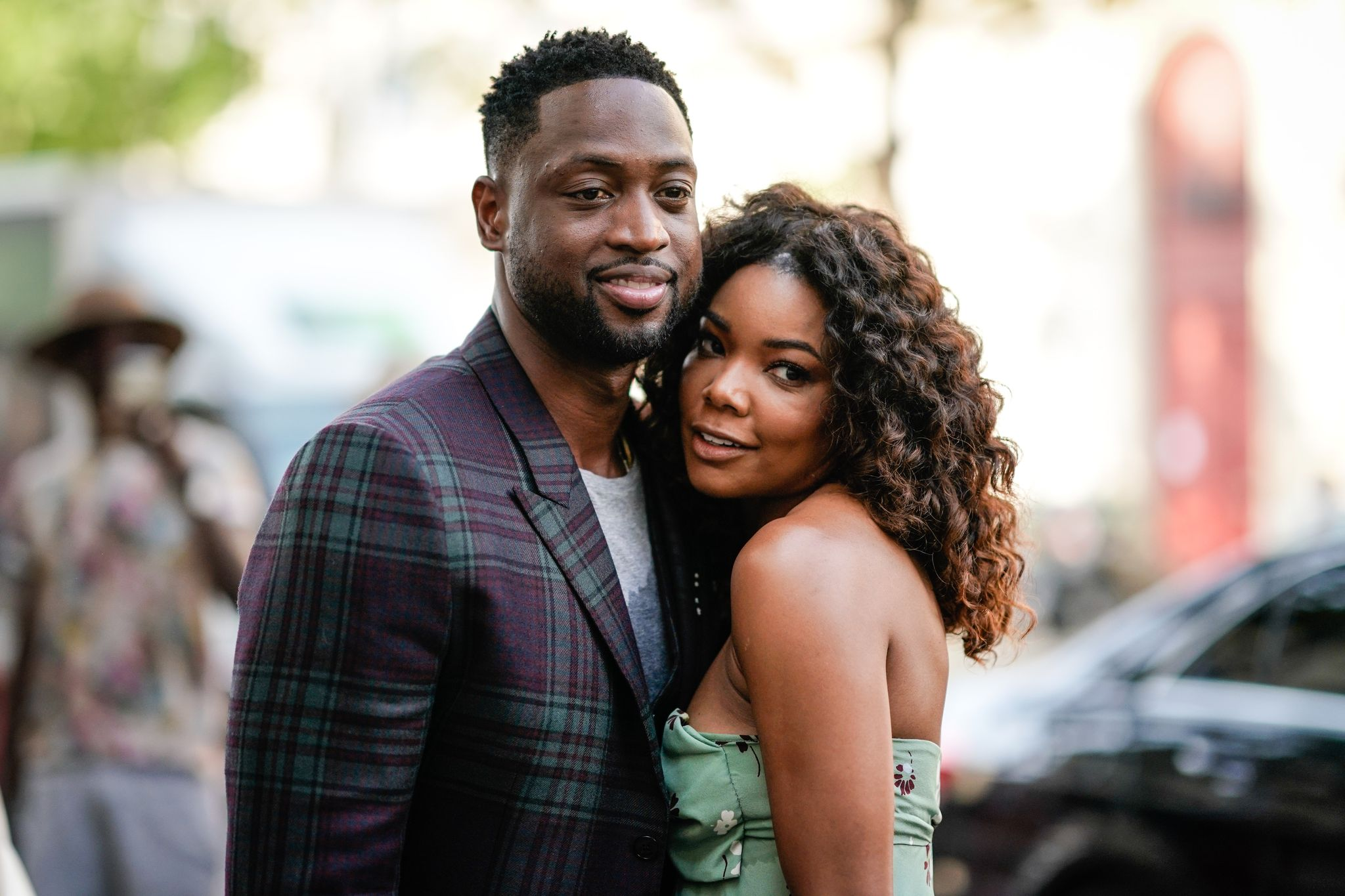 Dwyane Wade and wife Gabrielle Union at the Paris Fashion Week 2018 in June 21, 2017 in Paris, France | Source: Getty Images