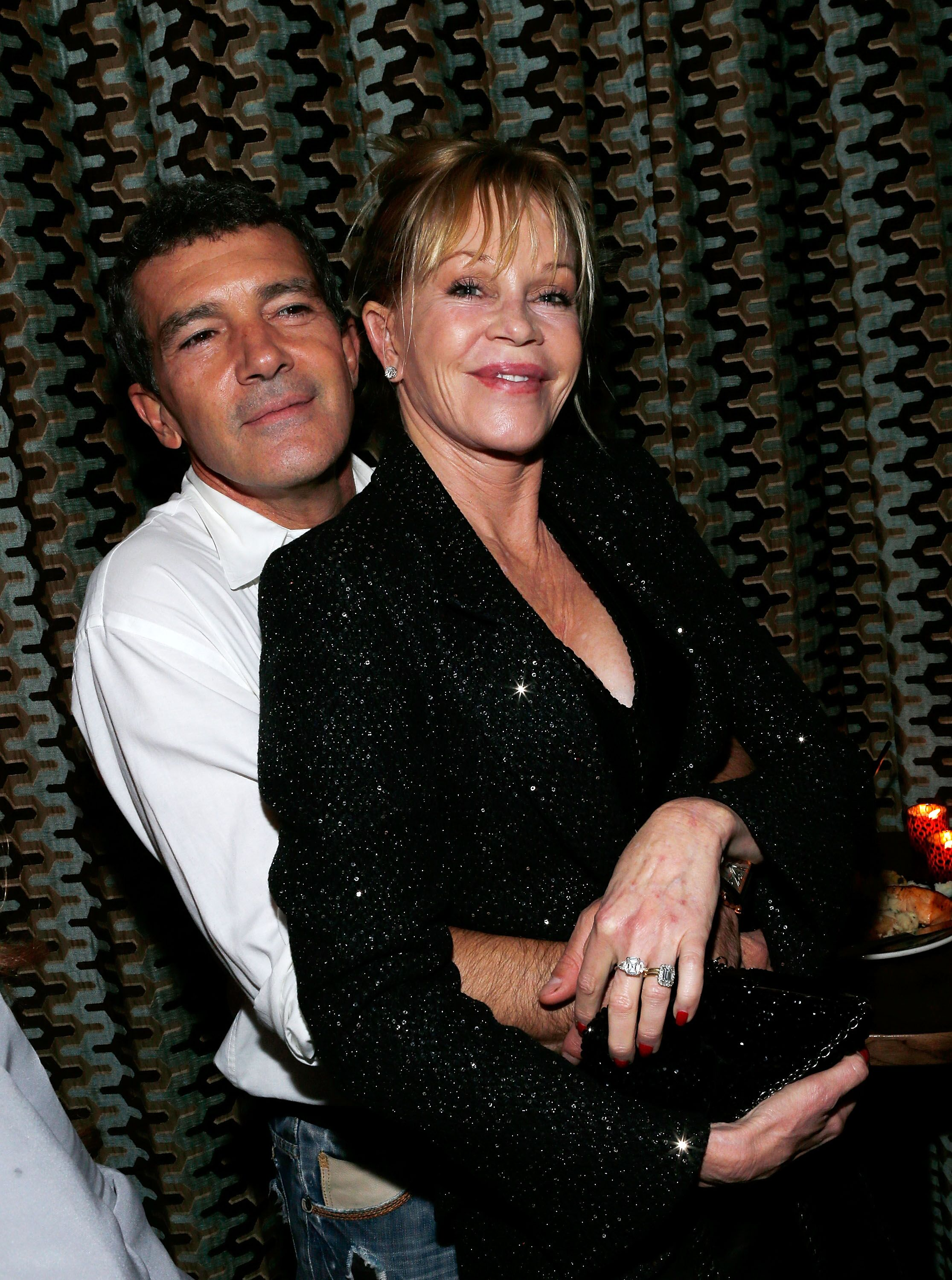 "Actor Antonio Banderas and actress Melanie Griffith attend the after party for the ""Black Nativity"" premiere at The Red Rooster on November 18, 2013 in New York City 