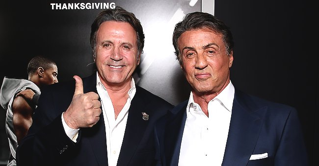 "Frank Stallone and Producer Sylvester Stallone attend the premiere of Warner Bros. Pictures' ""Creed"" at Regency Village Theatre on November 19, 2015 
