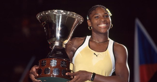 Serena Williams in the Women's Final of the Compaq Grand Slam Cup tennis tournament at the Olympiahalle in Munich, September, 1991   Photo: Getty Images