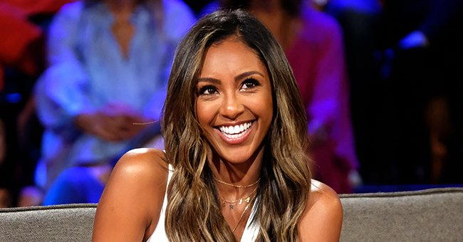 """Tayshia Adams during taping for the season finale of """"Bachelor in Paradise"""" on August 27, 2019 