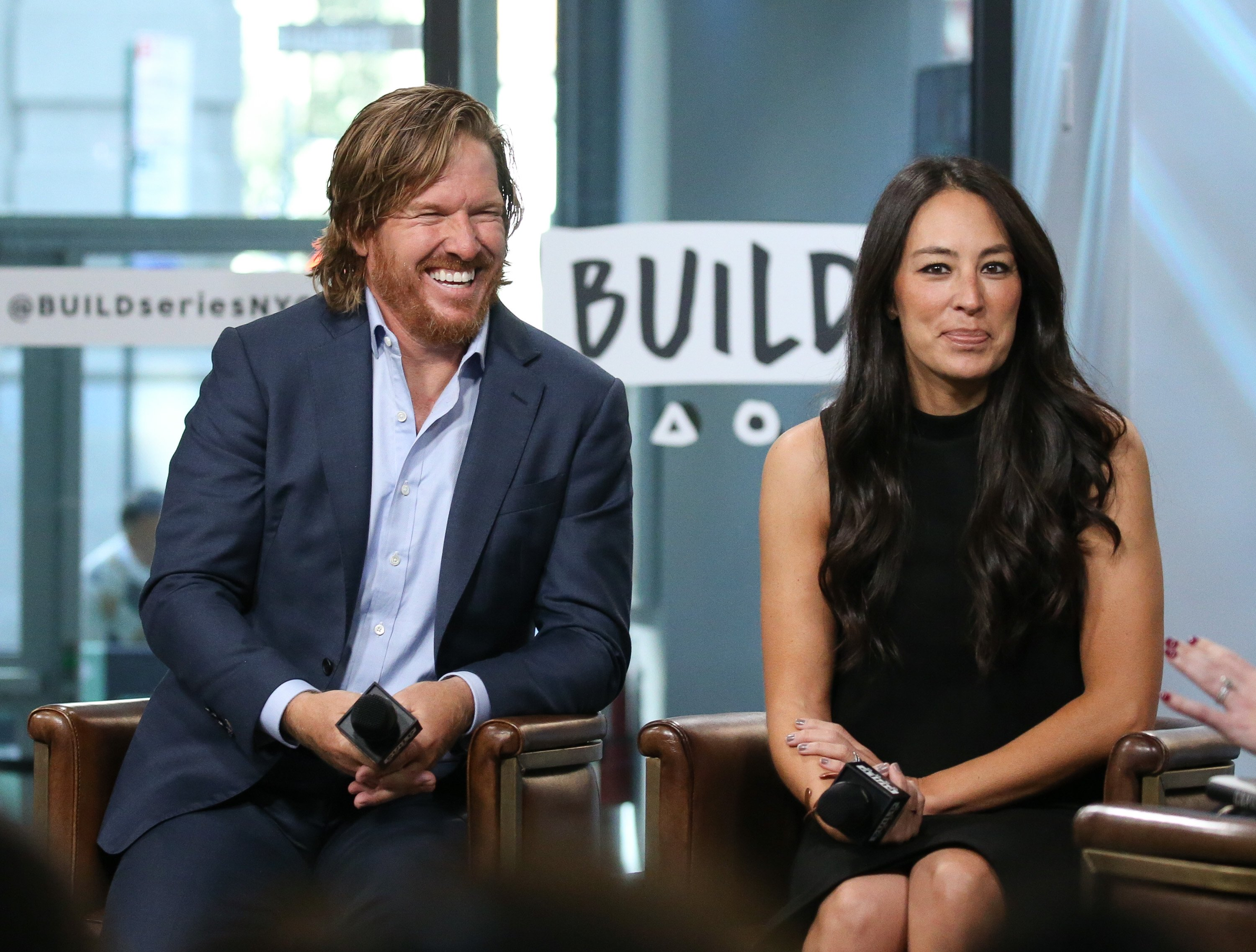 """Chip Gaines and Joanna Gaines discuss new book, """"Capital Gaines: Smart Things I Learned Doing Stupid Stuff"""" at Build Studio on October 18, 2017. 