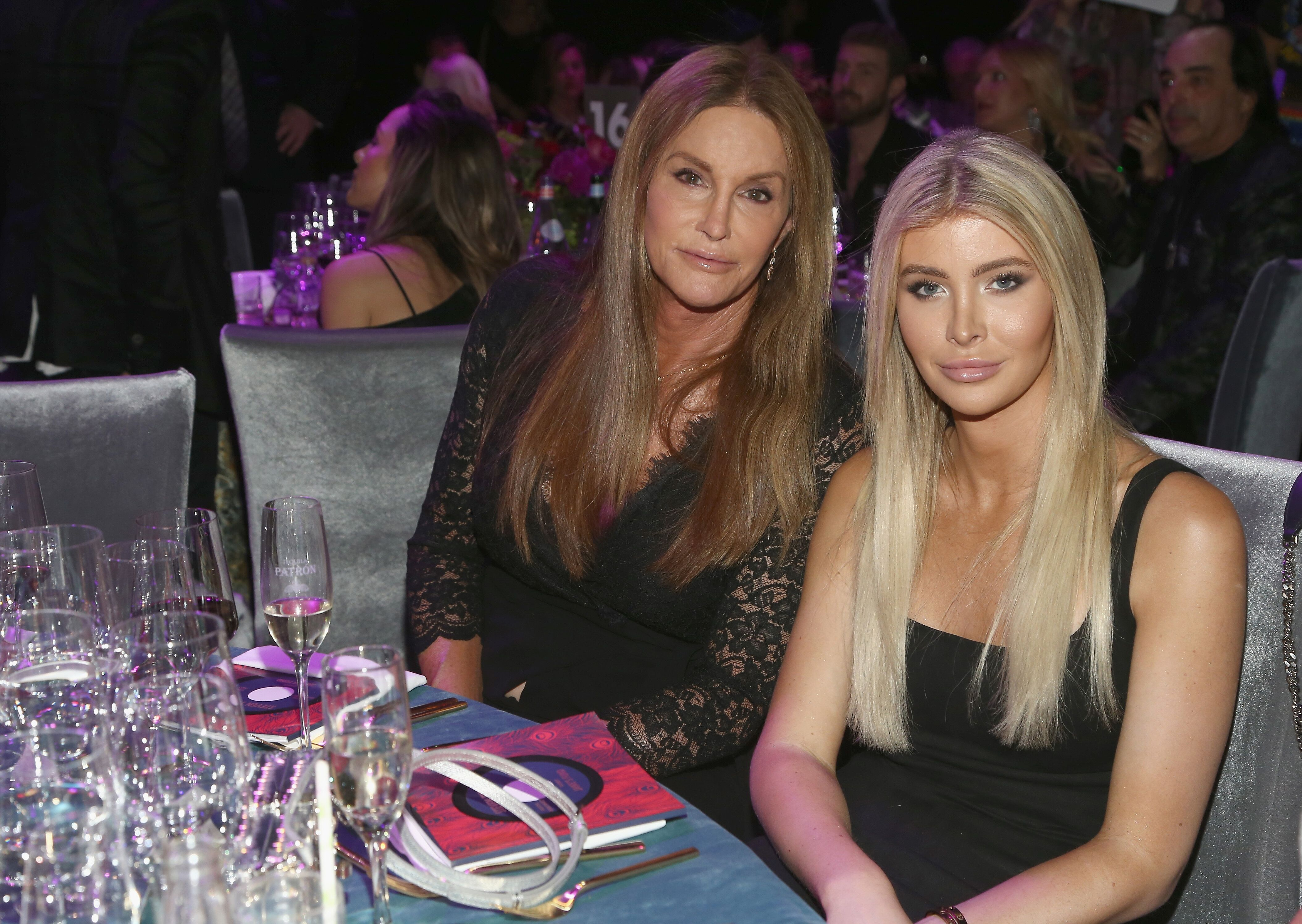 Caitlyn Jenner (L) and Sophia Hutchins at Steven Tyler and Live Nation presents Inaugural Janie's Fund Gala & GRAMMY Viewing Party at Red Studios in Los Angeles, California | Photo: Getty Images