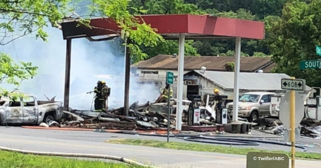 Multiple People Hospitalized after Gas Station Explosion