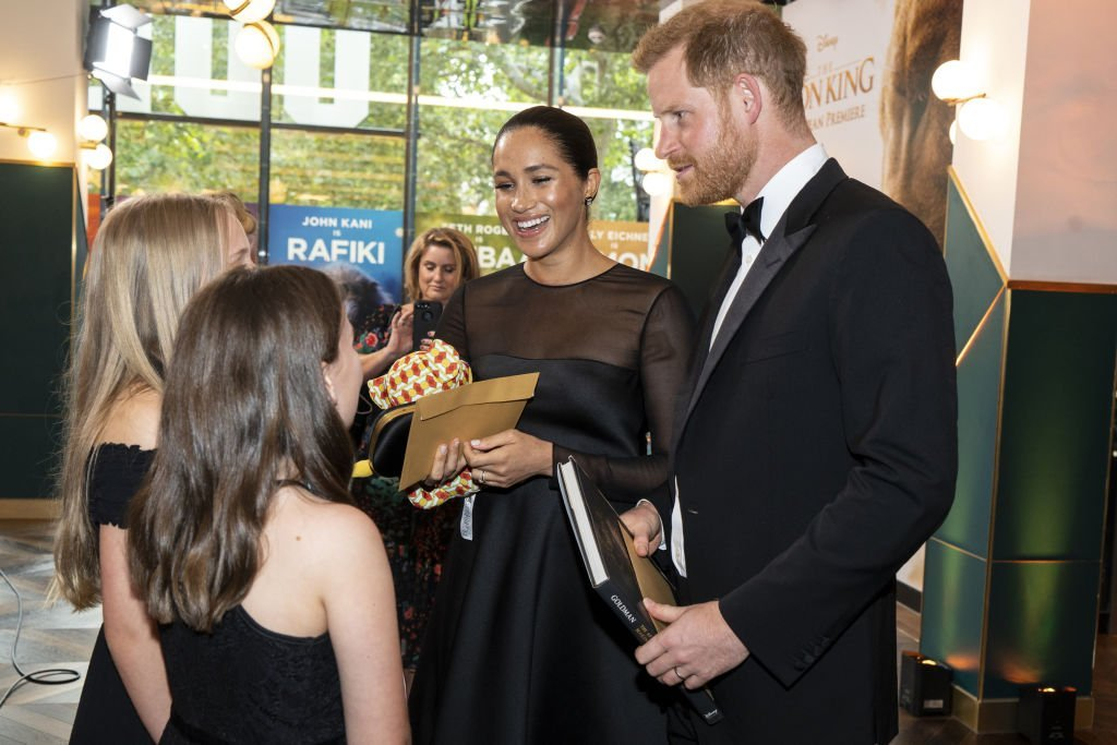 "Meghan Markle and Prince Harry, attend ""The Lion King"" European Premiere at Leicester Square in London 