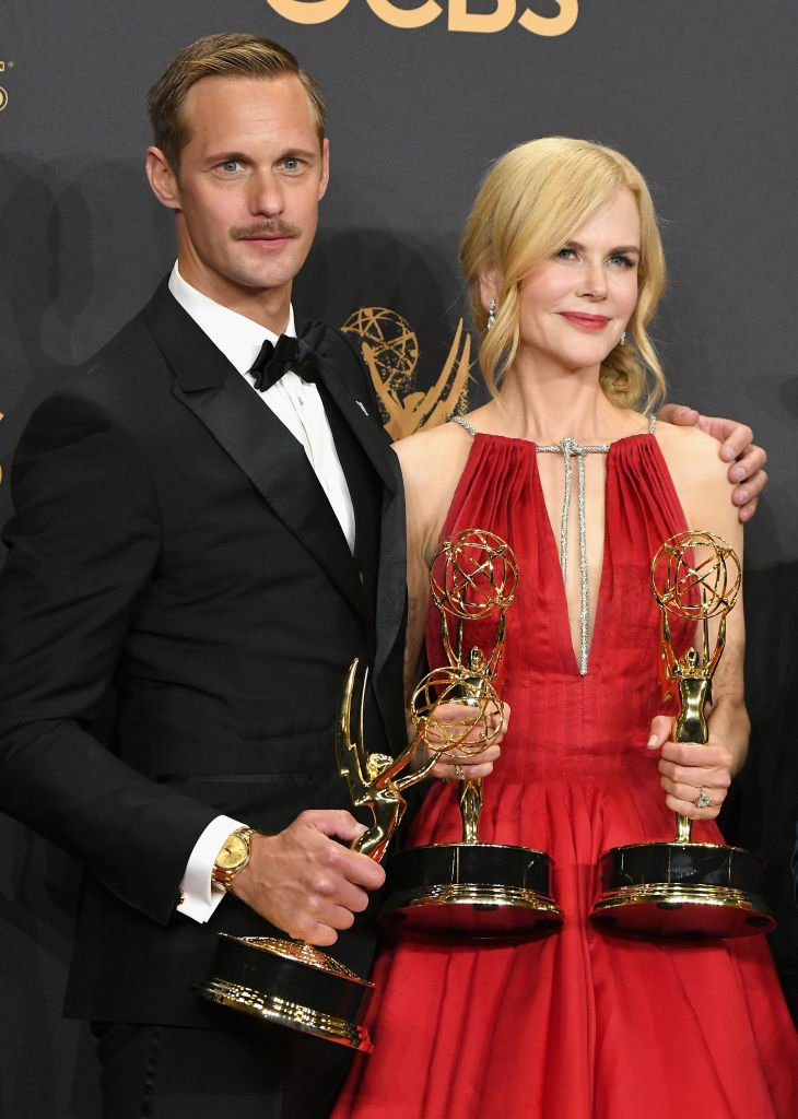 Alexander Skarsgård and Nicole Kidman at the Emmys on September 17, 2017, in Los Angeles | Source: Getty Images