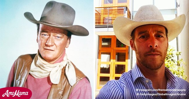 John Wayne's handsome grandson is 46 years old and he looks so similar to grandpa