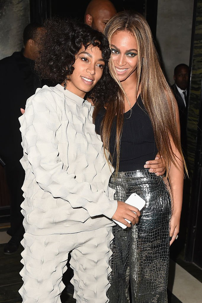 Singers Solange Knowles and Beyonce attend the Balmain and Olivier Rousteing after the Met Gala Celebration | Photo: Getty Images