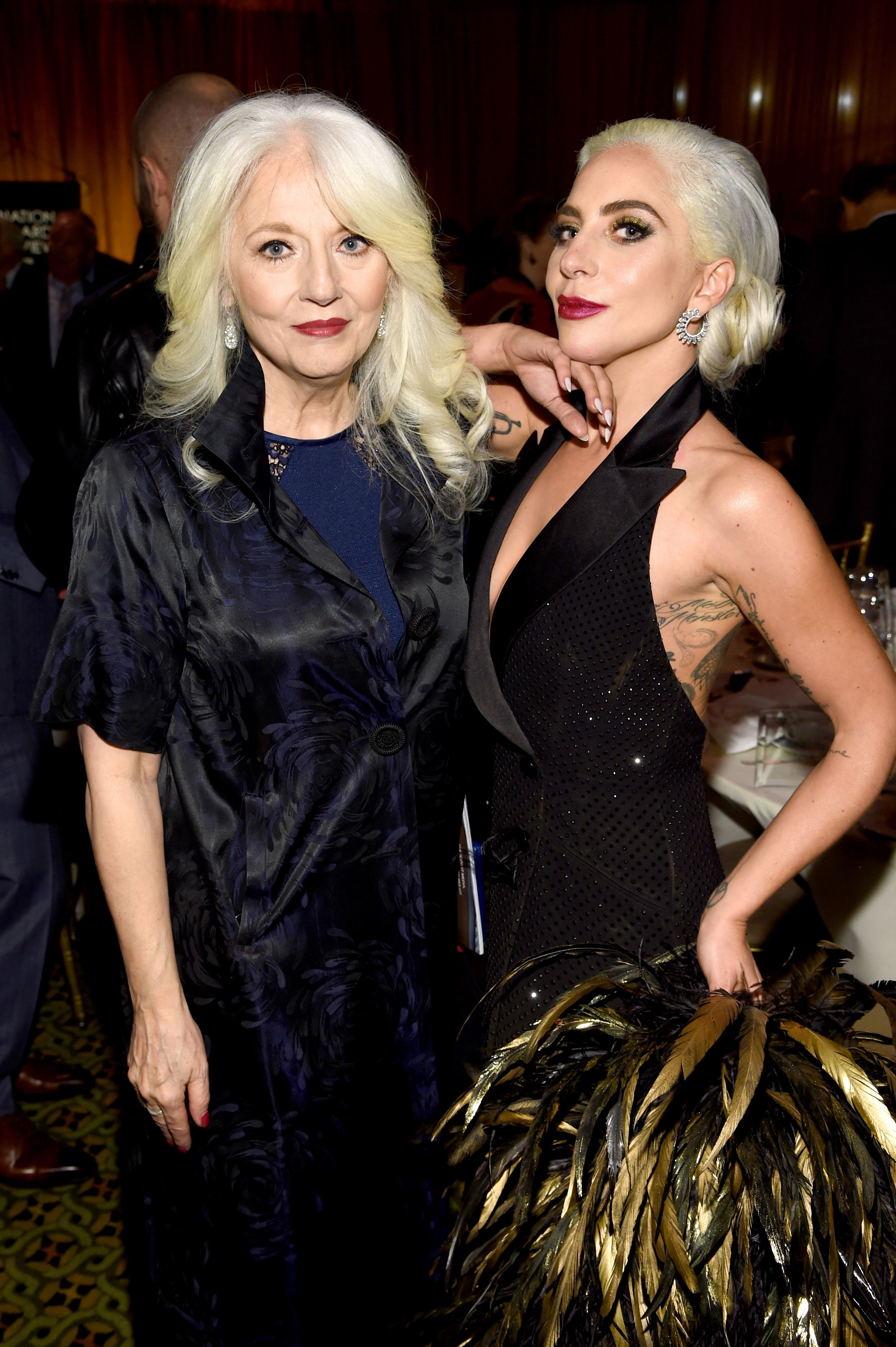 Cynthia Germanotta and Lady Gaga at the National Board of Review Annual Awards Gala at Cipriani 42nd Street on January 8, 2019 | Photo: Getty Images