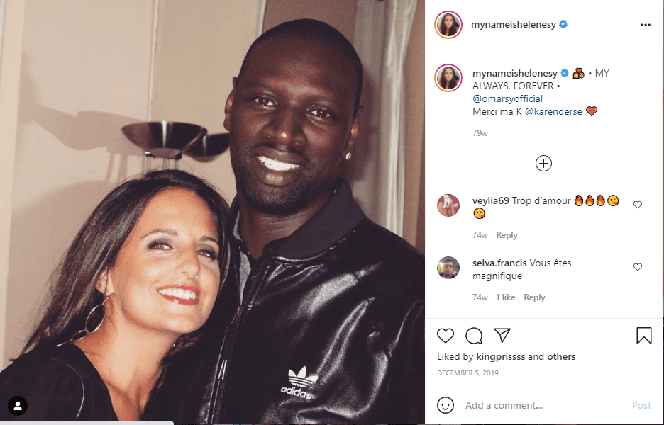 A picture of Omar Sy and his wife, Helene Sy on Instagram | Photo: Instagram/mynameishelenesy