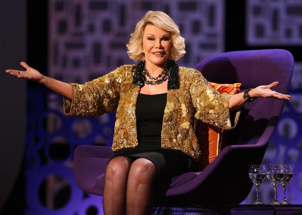 """Joan Rivers onstage during Comedy Central's """"Roast of Joan Rivers"""" 