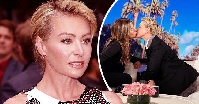Ellen DeGeneres' Fans Wonder What Wife Portia de Rossi Thinks after She Kissed Jennifer Aniston on TV