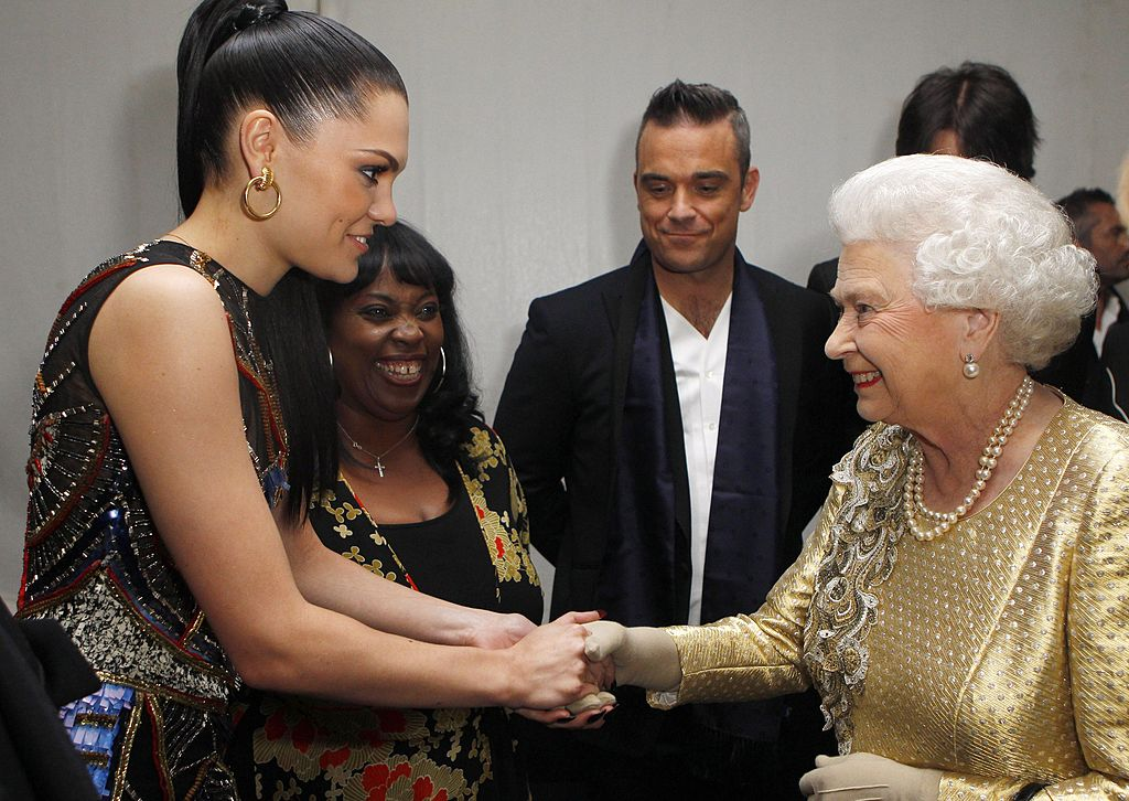 Jessie J met the Queen backstage after the Diamond Jubilee, in London, on 2014.   Source: Getty Images