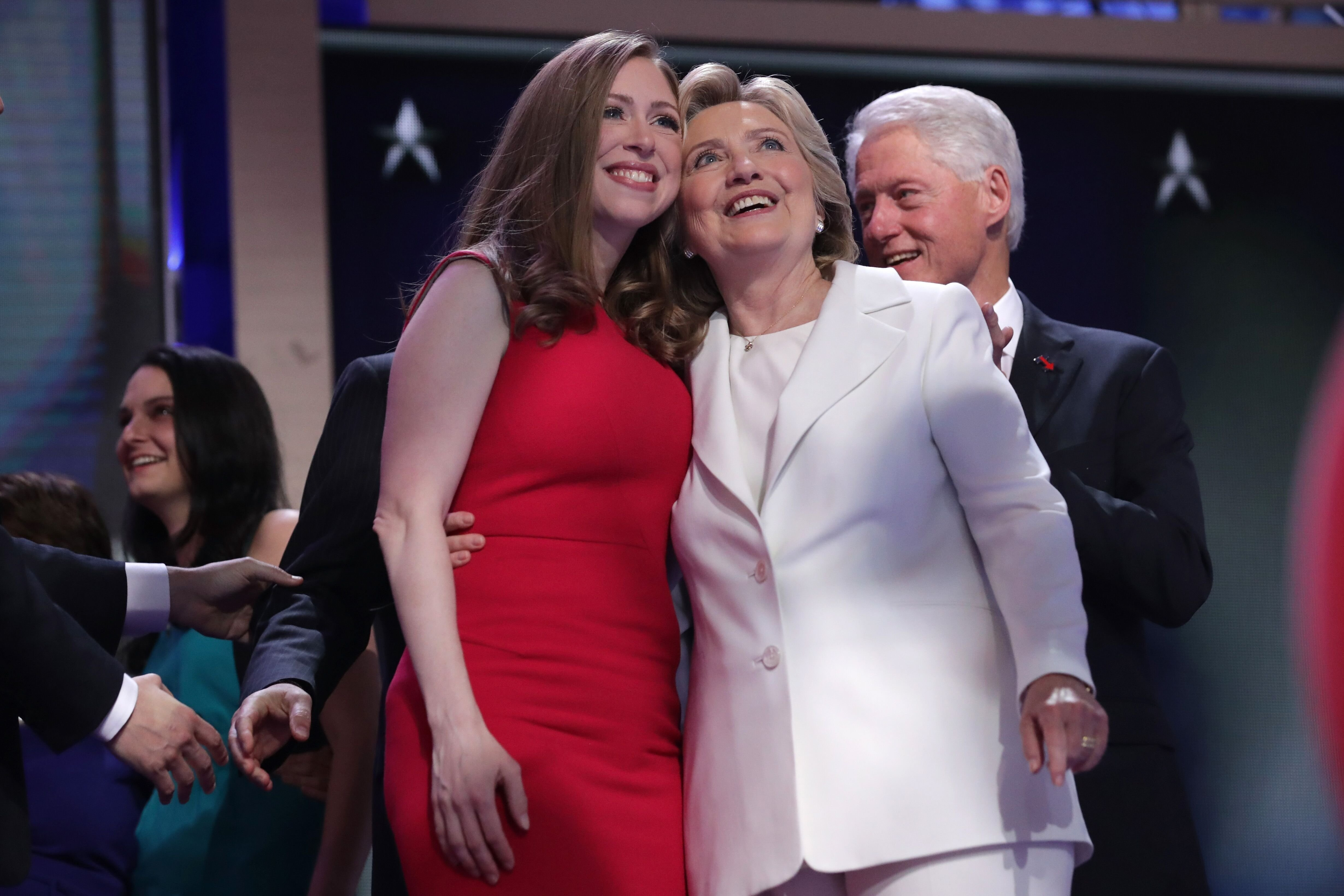 Hillary Clinton and Chelsea Clinton at the Democratic National Convention. | Source: Getty Images