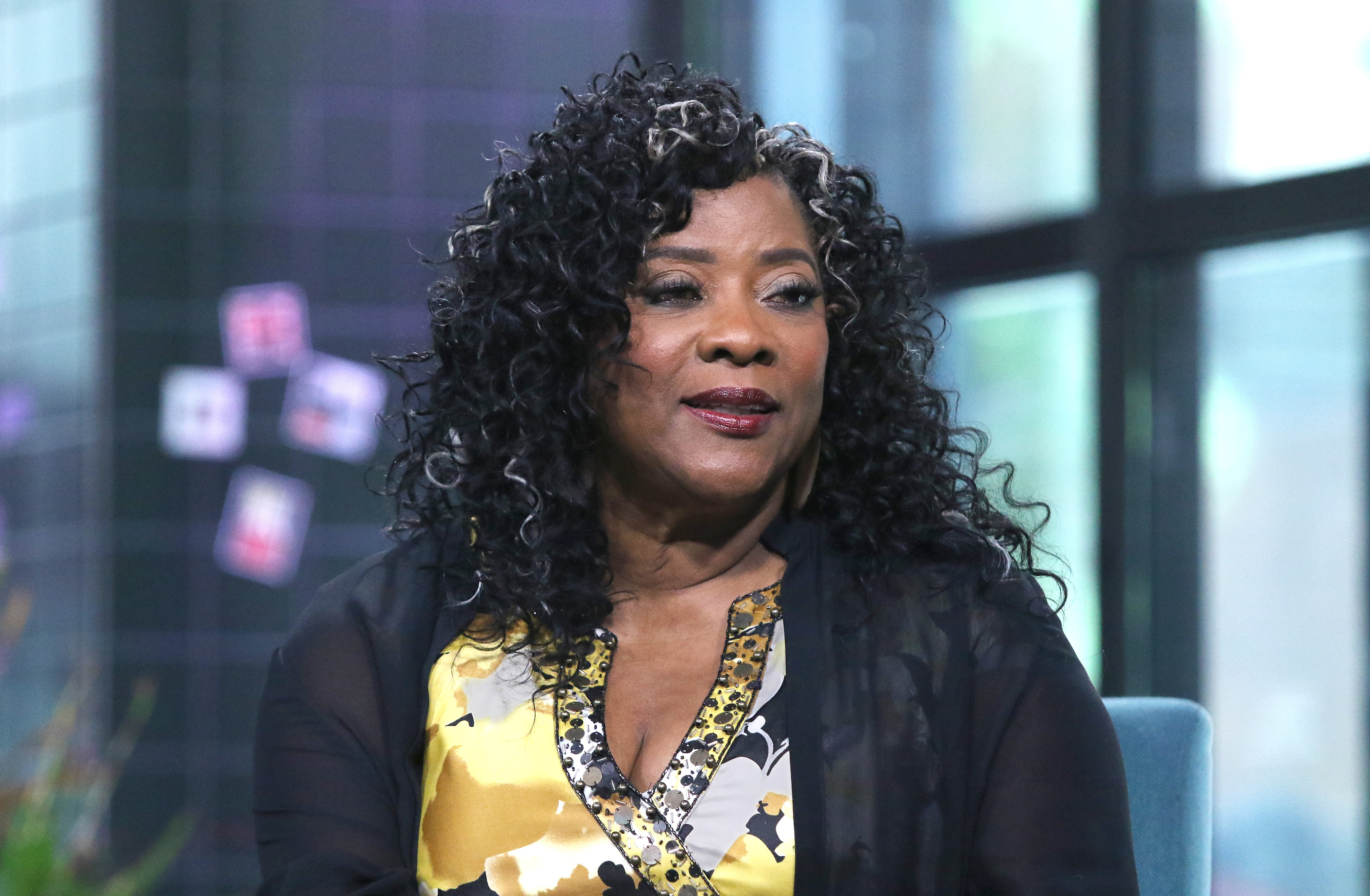 """Loretta Devine discussing """"Family Reunion"""" at Build Studio in July 2019 in New York City 