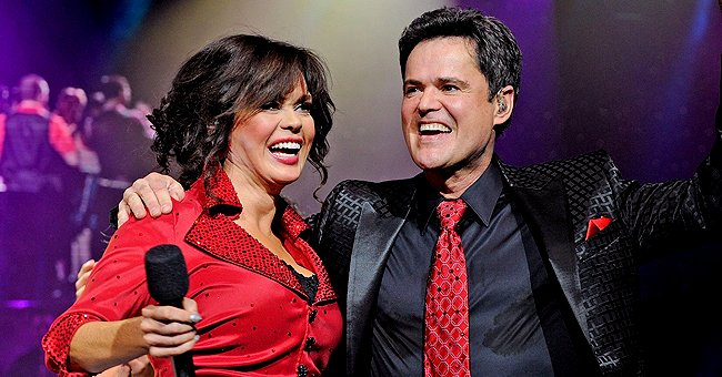 Marie and Donny Osmond during their variety show at the Flamingo in 2011 in Las Vegas | Source: Getty Images