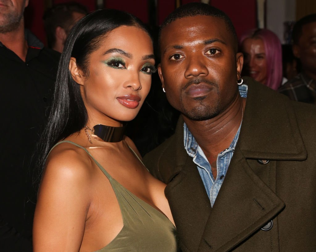 Rapper Ray J (R) and his Wife Princess Love (L) attend Tyga's Birthday celebration at Delilah | Photo: Getty Images