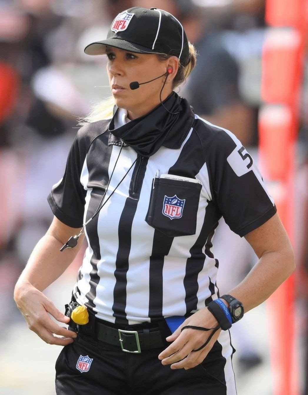 Sarah Thomas will become first woman to officiate the Super Bowl. January, 2020.   Photo: Instagram/NFL.