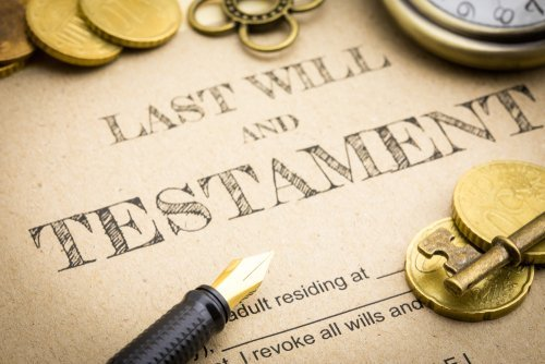 Close-up of documentation for a last will and testament. | Photo: Shutterstock.