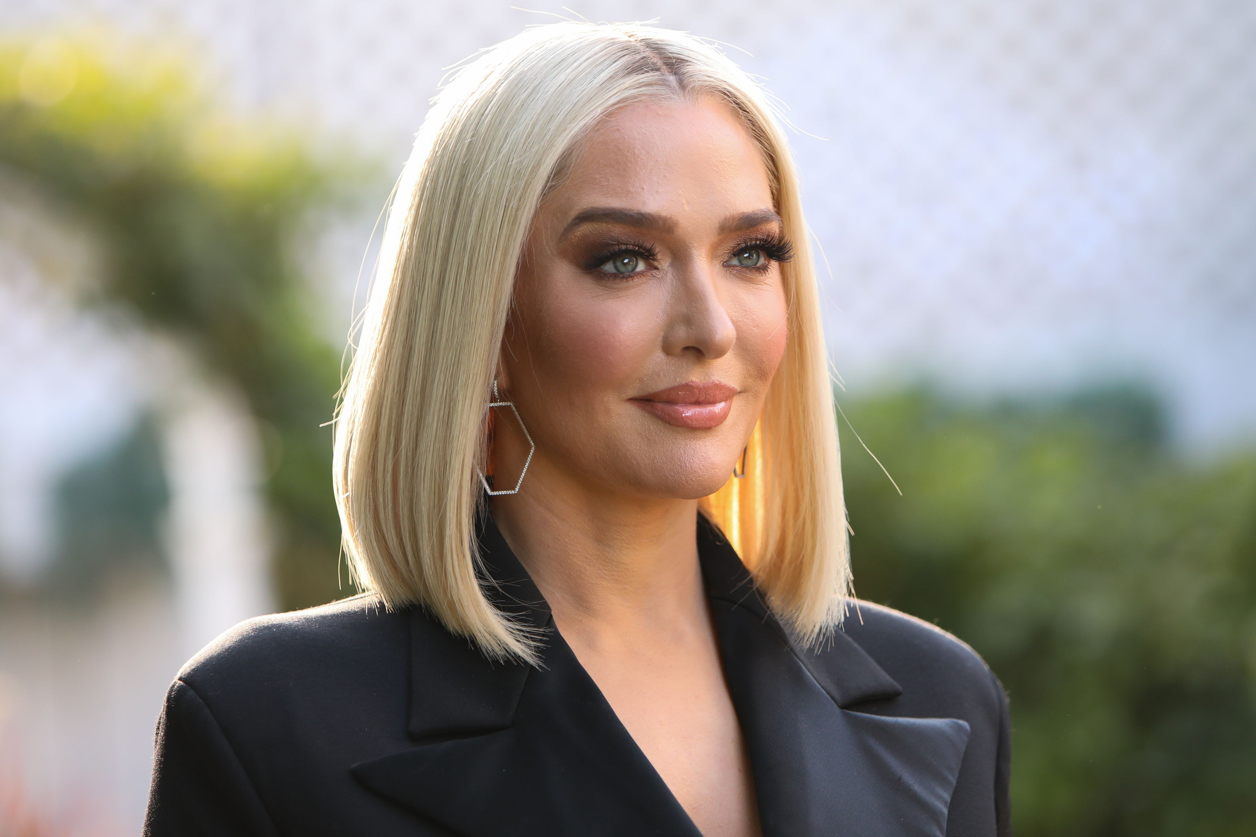 """Erika Jayne visits Hallmark Channel's """"Home & Family"""" at Universal Studios Hollywood on November 11, 2019. 