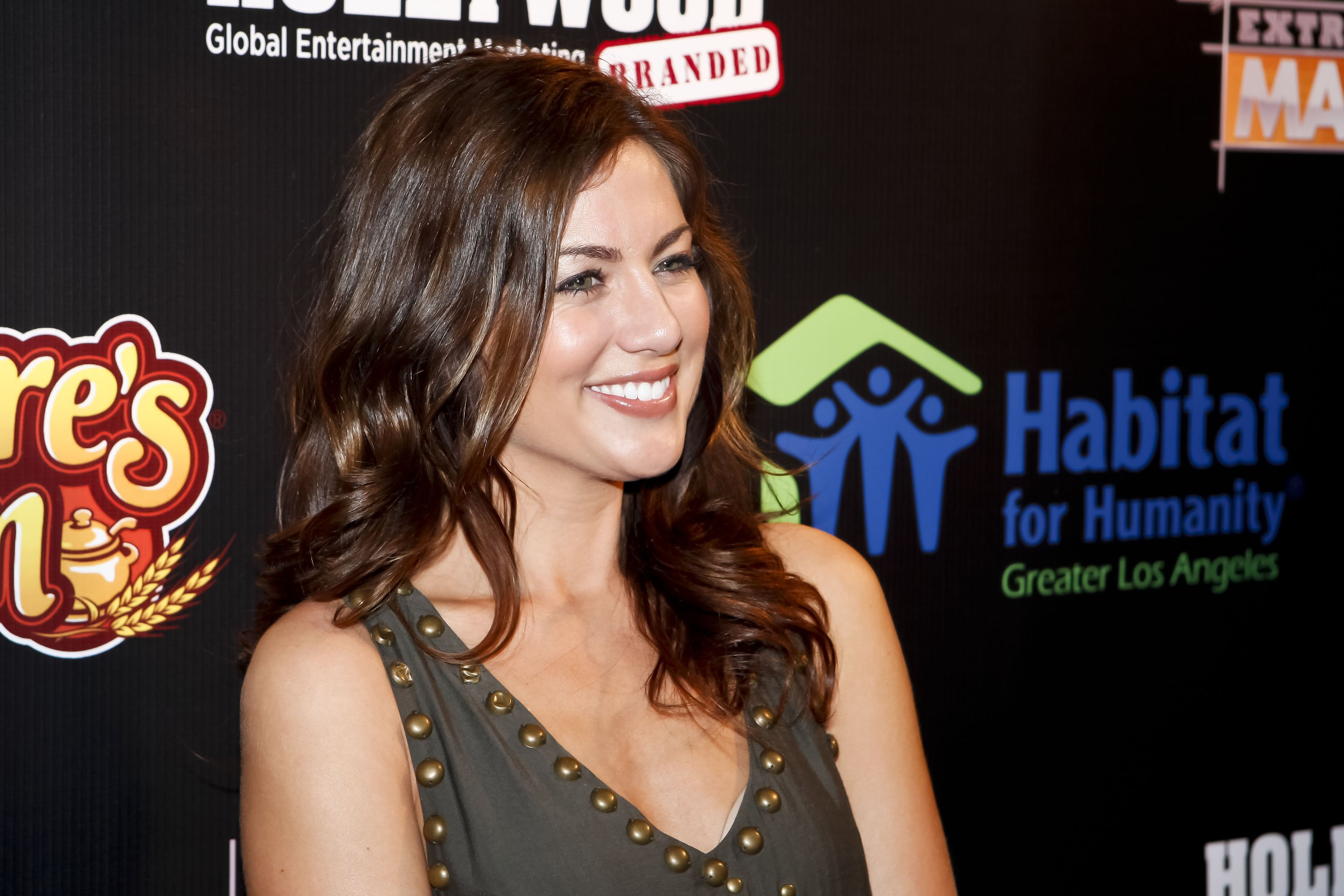 """TV pesonality Jillian Harris during the 2011 Habitat fro Humanity event with ABC's """"Extreme Makeover: Home Edition"""" in California. 