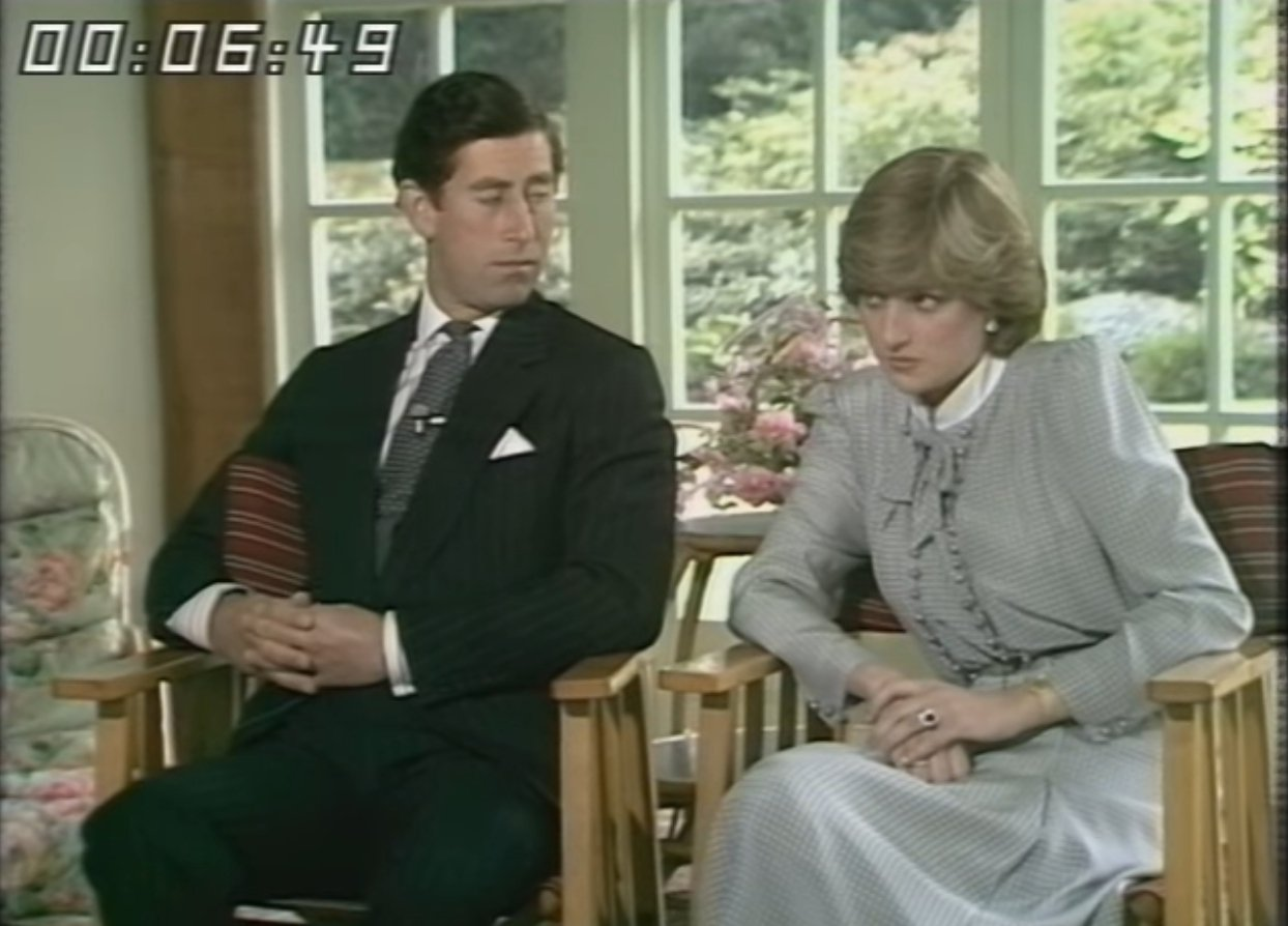 Princess Charles and Princess Diana being interview in 1981   Photo: YouTube/ ThamesTV