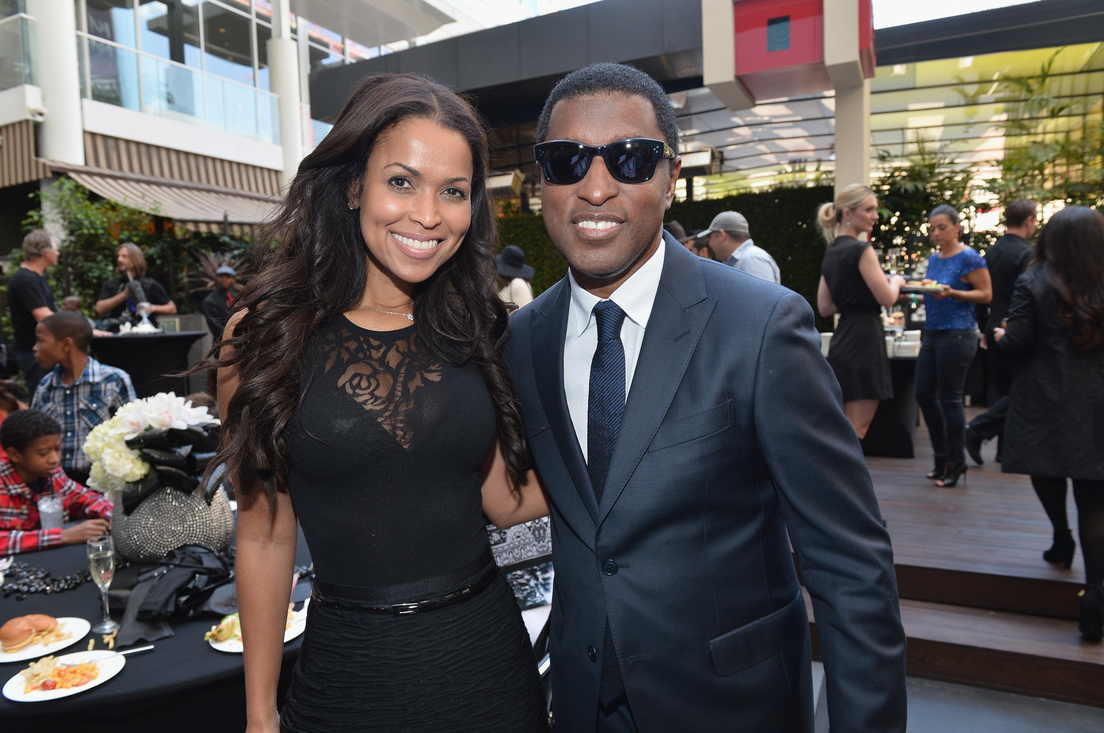 "Tracey Edmonds and Kenny ""Babyface"" Edmonds with the 2508th Star on the Hollywood Walk of Fame on October 10, 2013 in Hollywood, California. 
