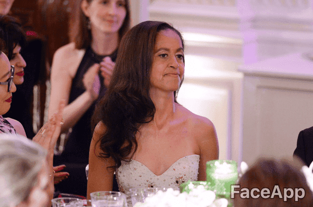 Malia Obama | Quelle: GettyImages / FaceApp