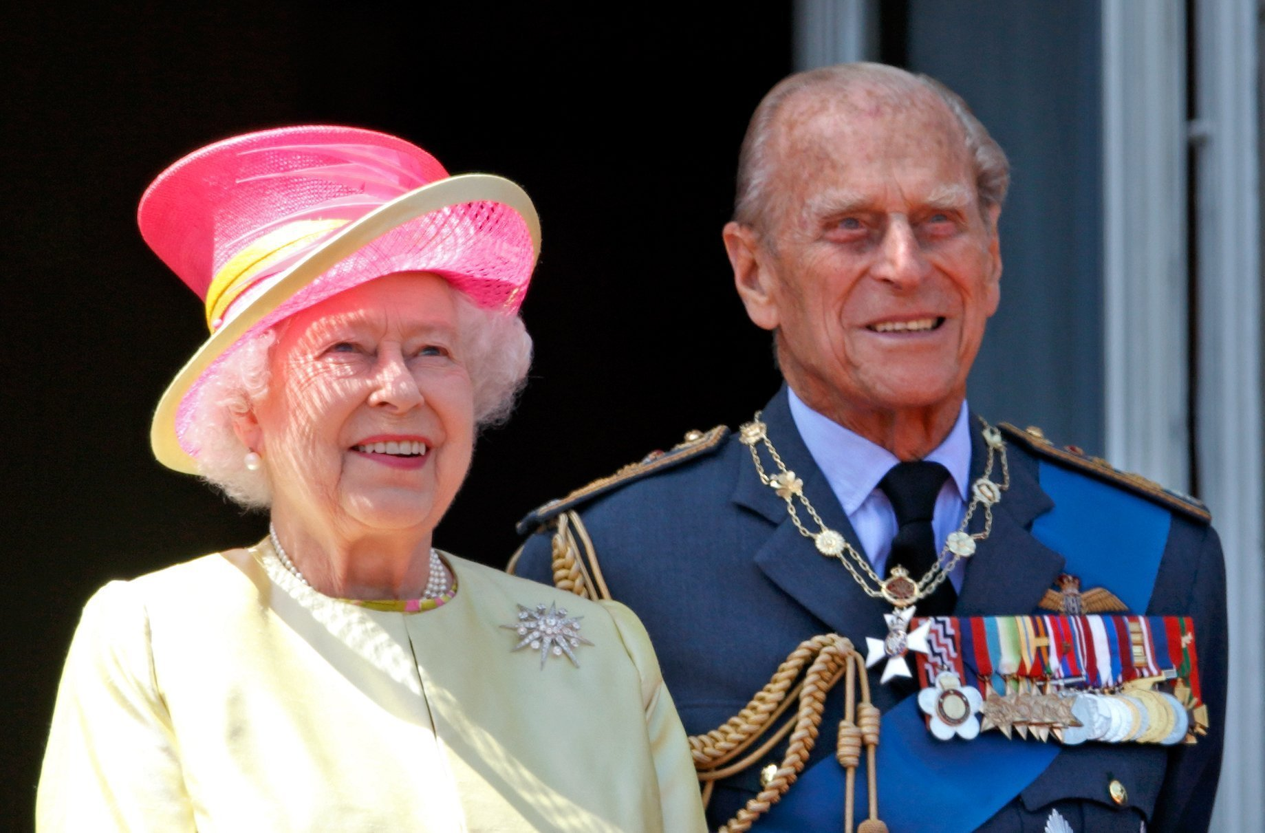 Queen Elizabeth II and Prince Philip attend the 75th Anniversary of The Battle of Britain on July 10, 2015, in London, England. | Source: Getty Images.
