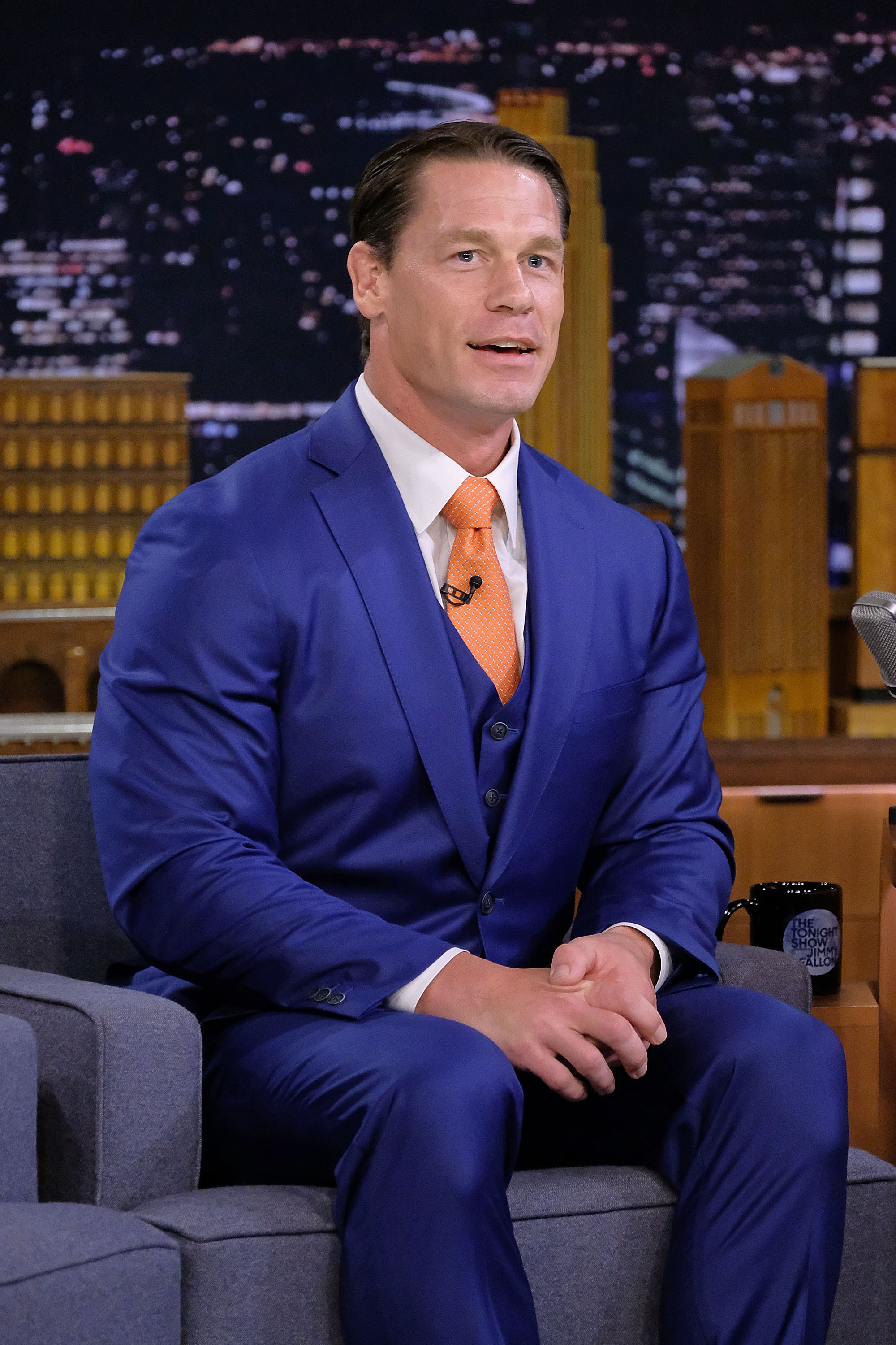 "John Cena visits ""The Tonight Show Starring Jimmy Fallon""at Rockefeller Center on October 9, 2018, in New York City. 