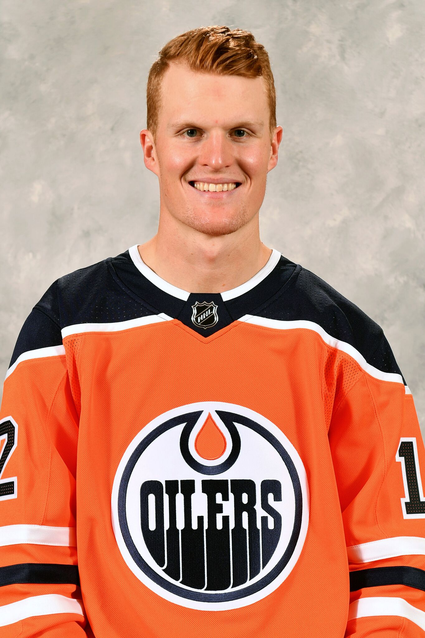 Colby Cave of the Edmonton Oilers poses for his official headshot for the 2019-2020 season on September 10, 2019 | Photo: Getty Images
