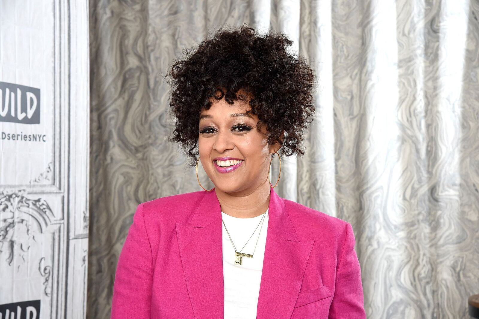 Tia Mowry-Hardrict visits the Build Brunch at Build Studio on June 28, 2019.   Source: Getty Images