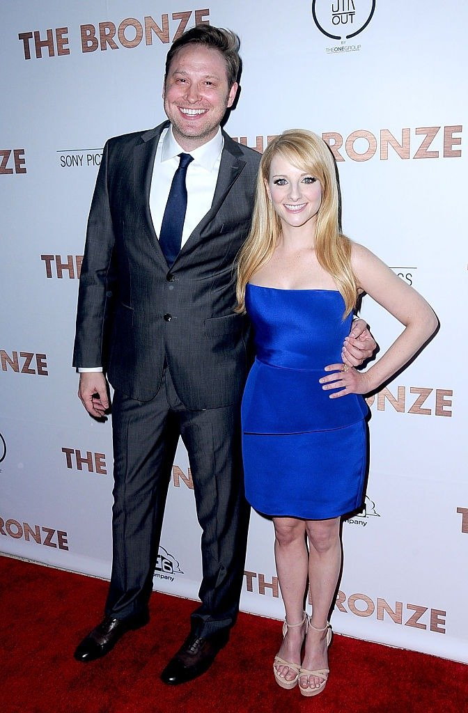 Winston Rach and actress/co-writer Melissa Rauch attend the Premiere of Sony Pictures Classics' 'The Bronze' at SilverScreen Theater at the Pacific Design Center on March 7, 2016   Photo: Getty Images\
