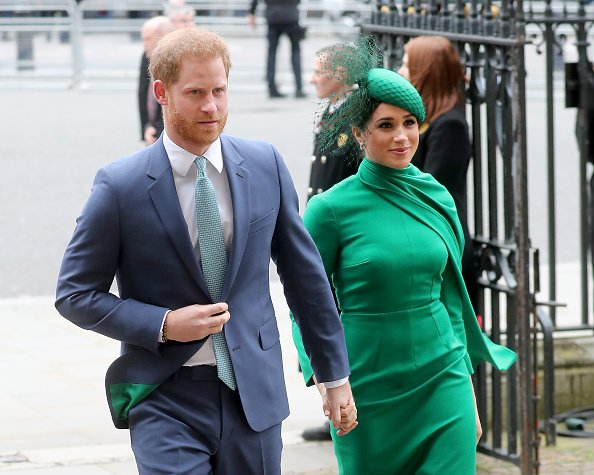 Prince Harry and Meghan Markle at the Commonwealth Day Service 2020 on March 09, 2020 in London, England.   Photo: Getty Images